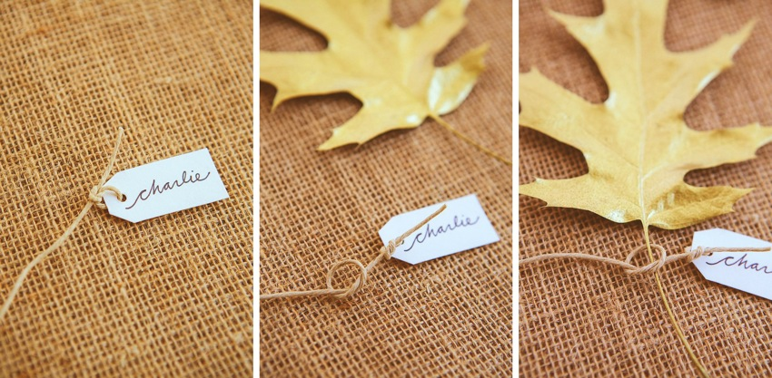 Gilded Leaf Place Card 016a