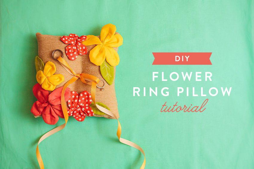 How To Pretty Petal Ring Pillow 043A