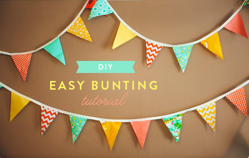 How to Easy Bunting The Goodness  002a