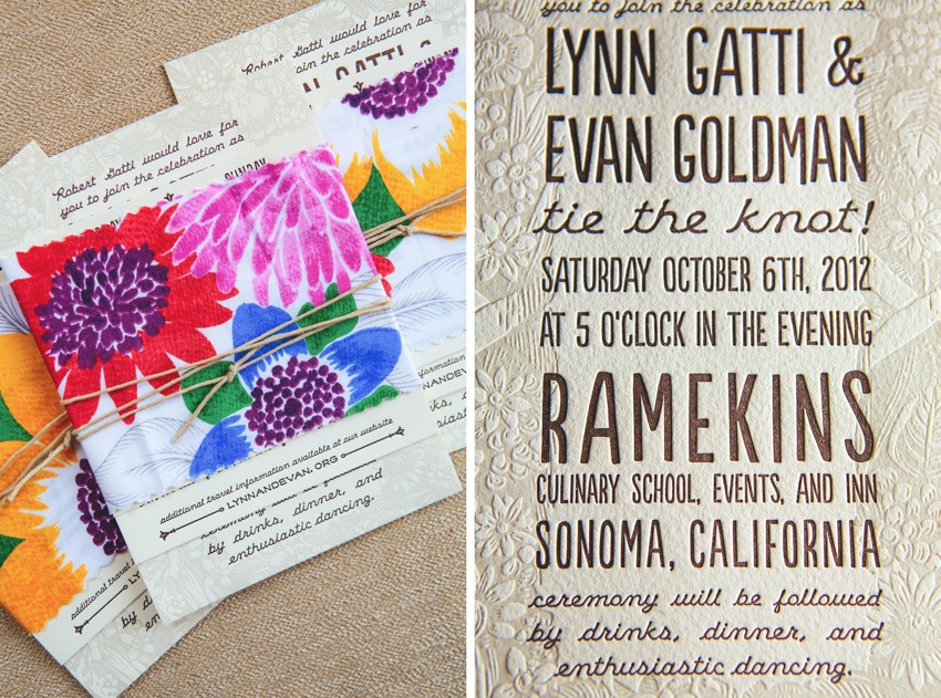 Watercolor Letterpress Wedding Invitations The Goodness 009a
