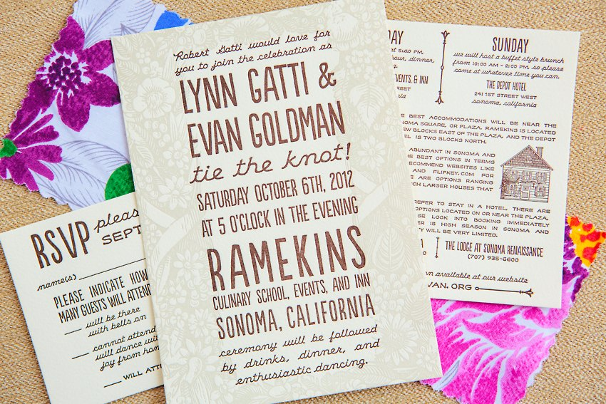 Watercolor Letterpress Wedding Invitations The Goodness 015