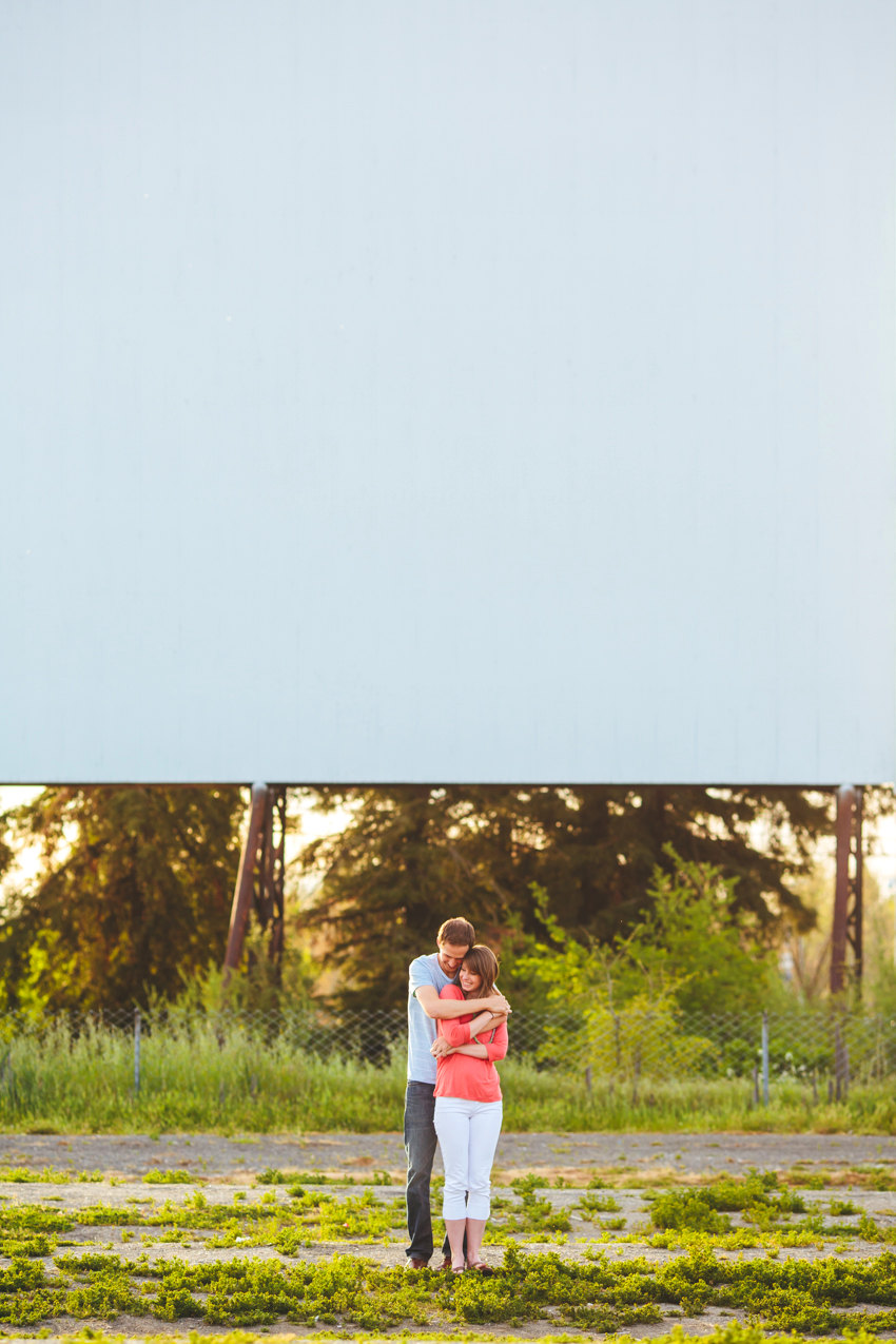 Drive in engagement session 017 photo