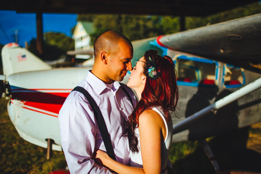 Vintage Airplane Engagement Session 003