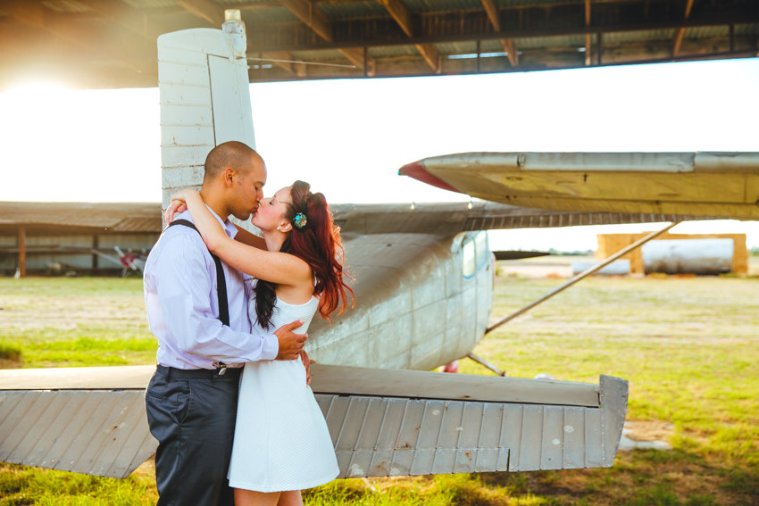 Vintage Airplane Engagement Session 004