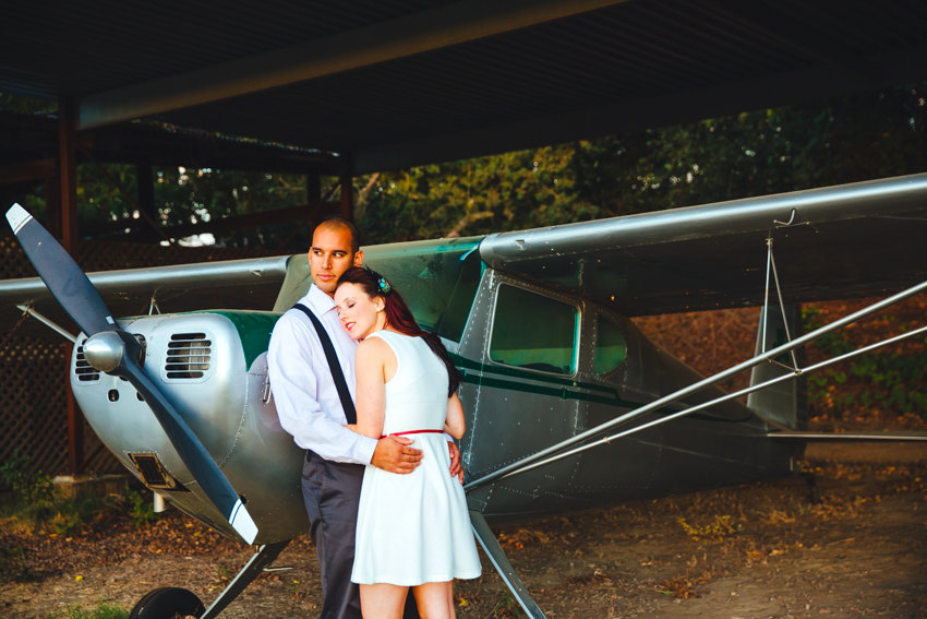 Vintage Airplane Engagement Session 018