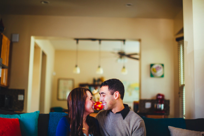 Downtown Sacramento engagement session at home 022