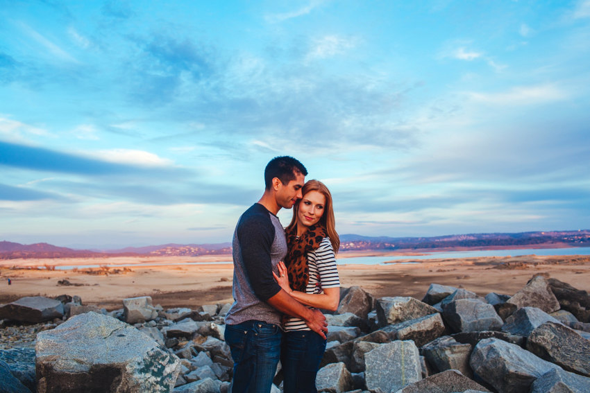Folsom Lake Engagement Session Drought 029