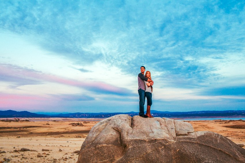 Folsom Lake Engagement Session Drought 034