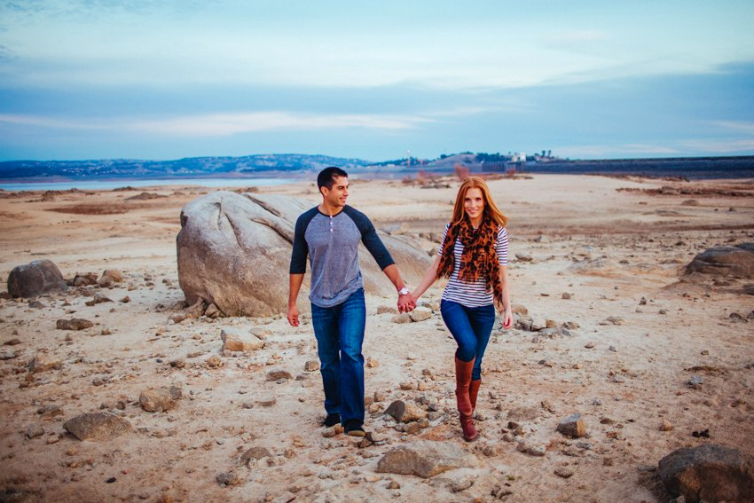 Folsom Lake Engagement Session Drought 035
