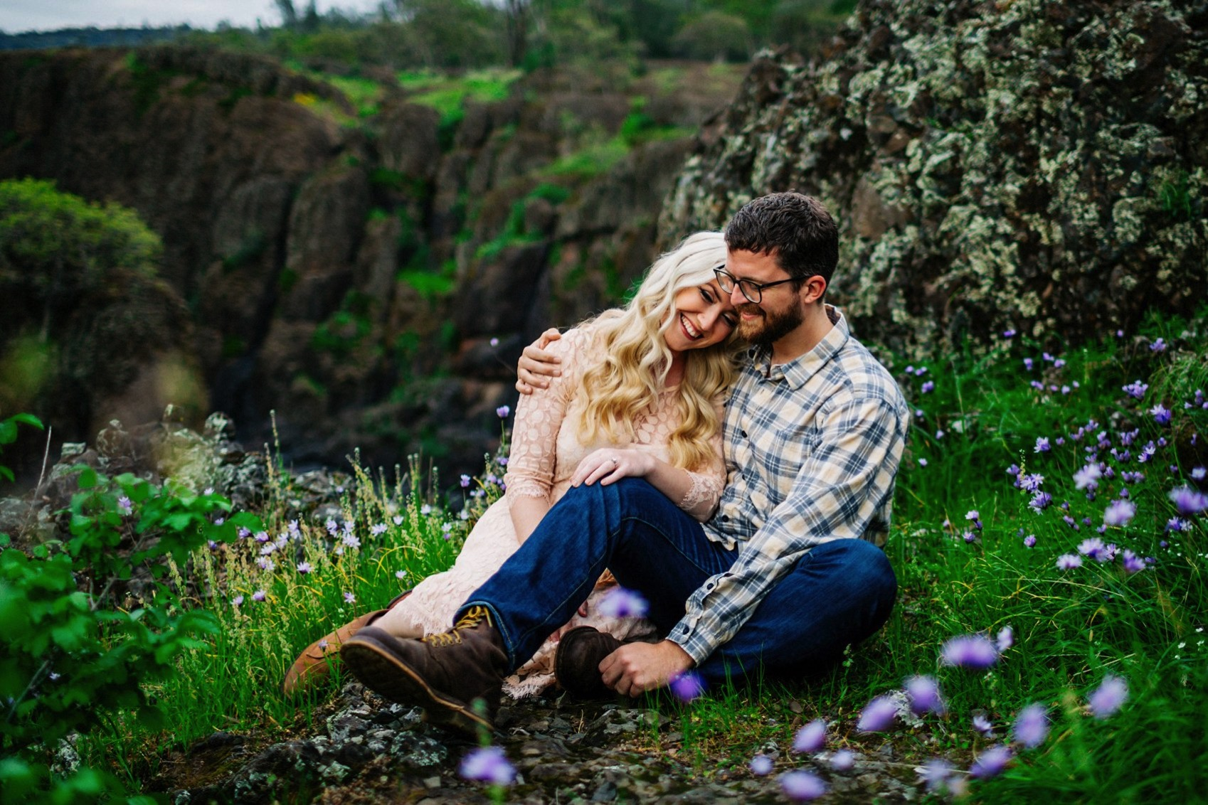 Chico Bidwell Park Engagement session 005 photo