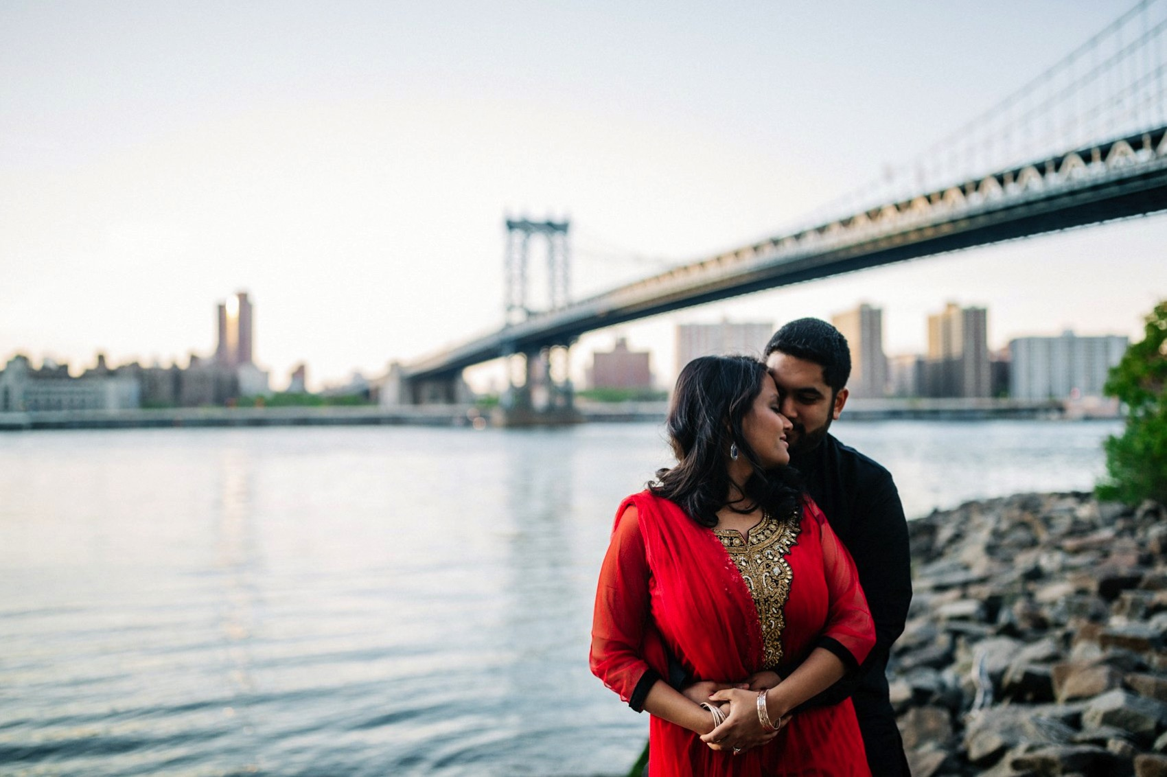 Brooklyn Bridge Park engagement 022 photo
