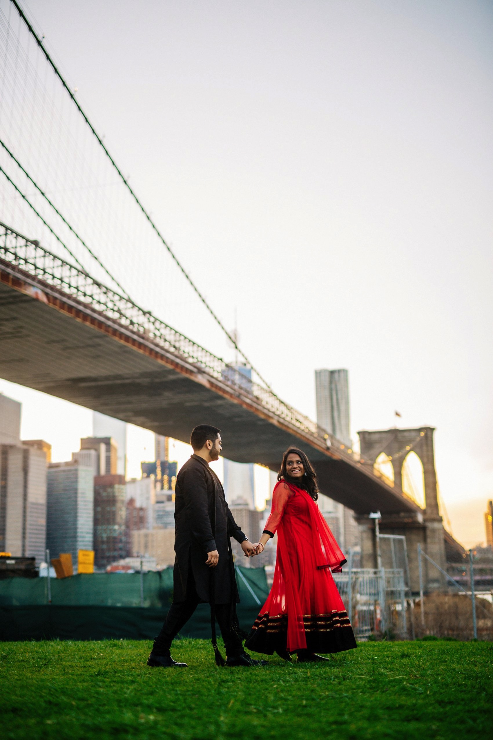 Brooklyn Bridge Park engagement 023 photo