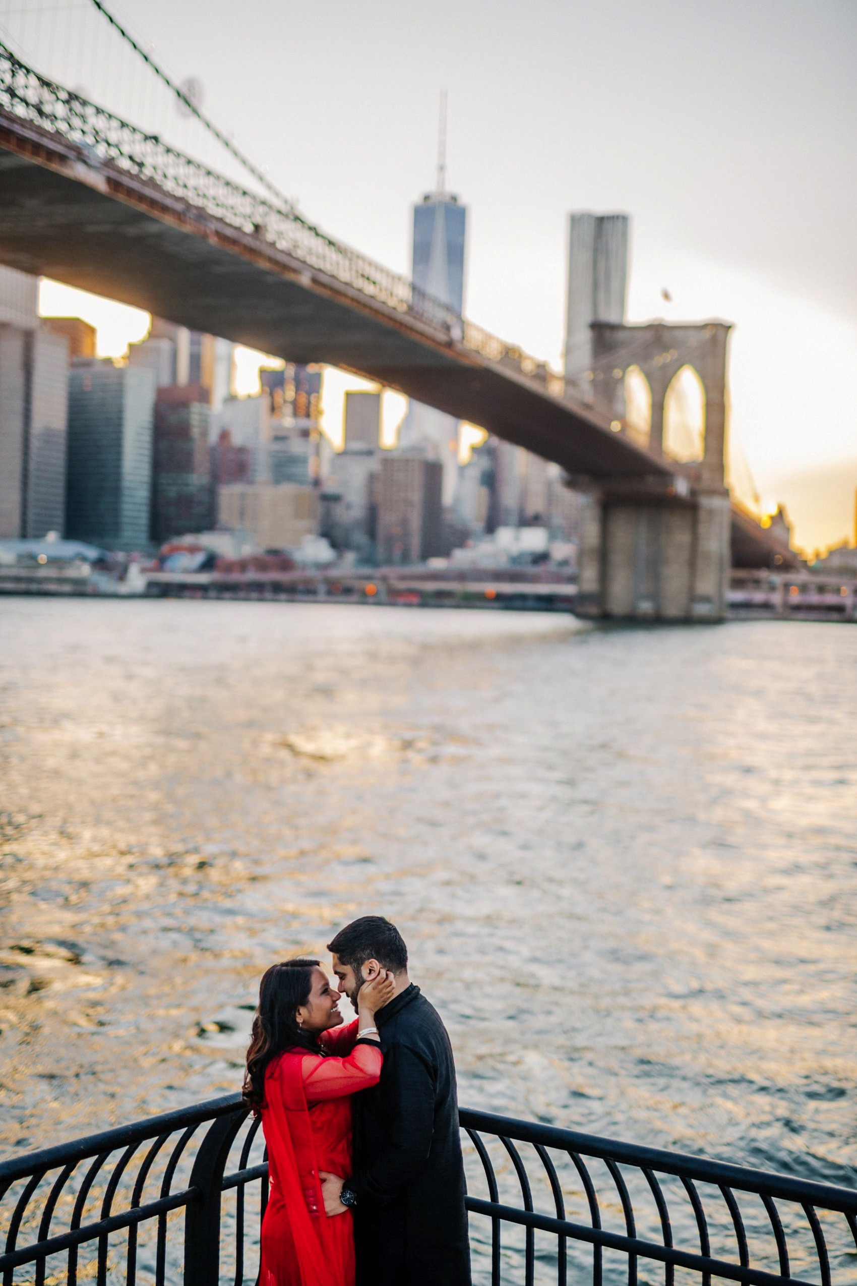 Brooklyn Bridge Park engagement 026 photo