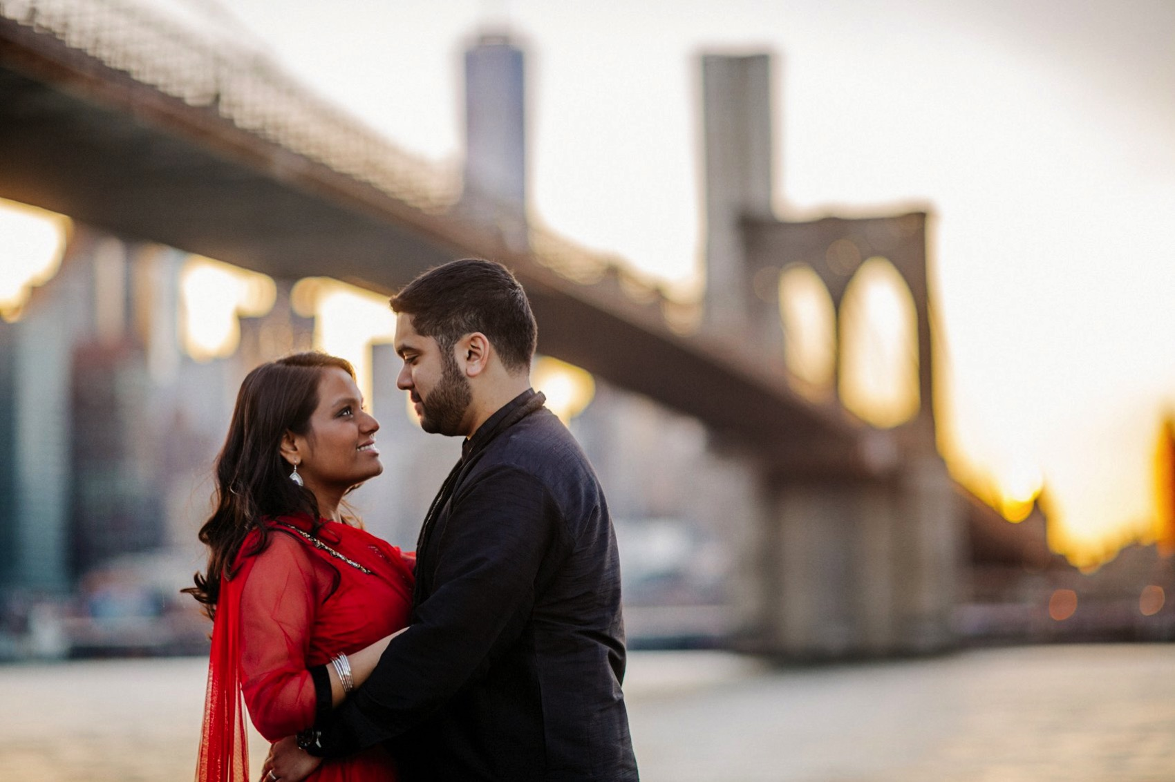Brooklyn Bridge Park engagement 027 photo