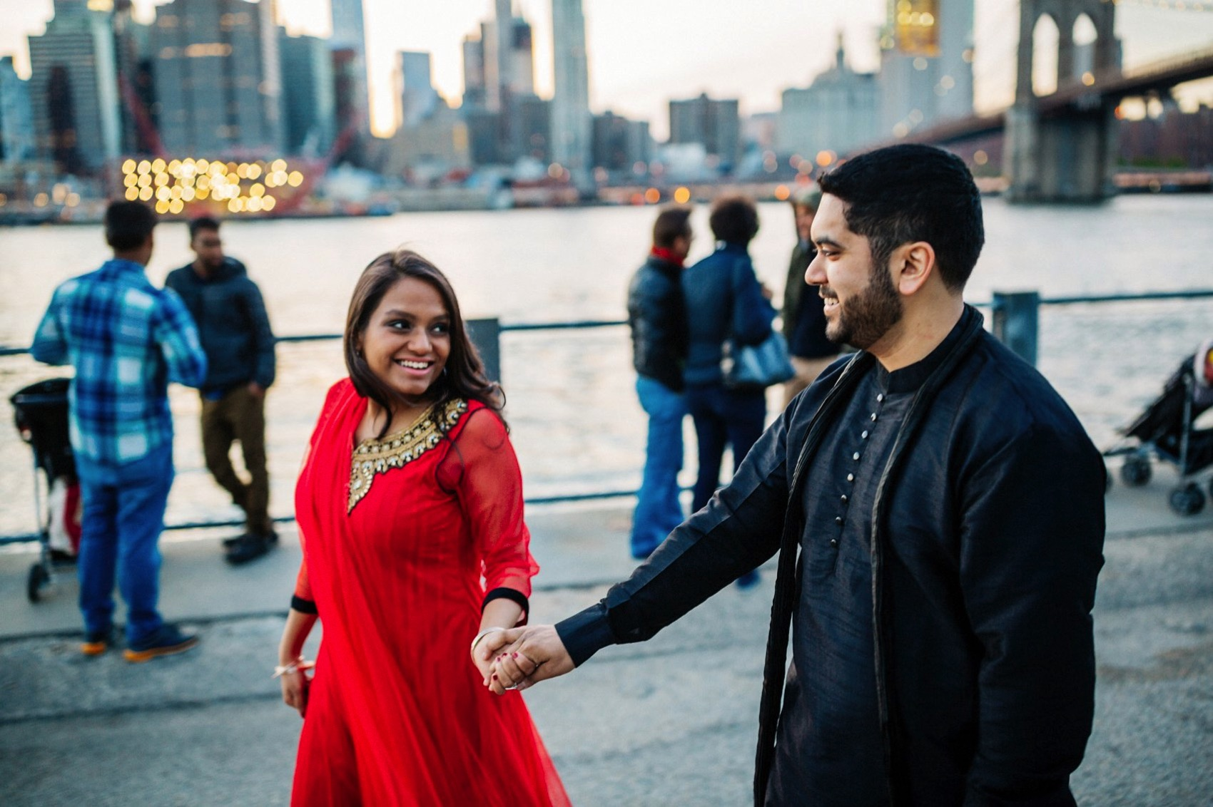 Brooklyn Bridge Park engagement 032 photo