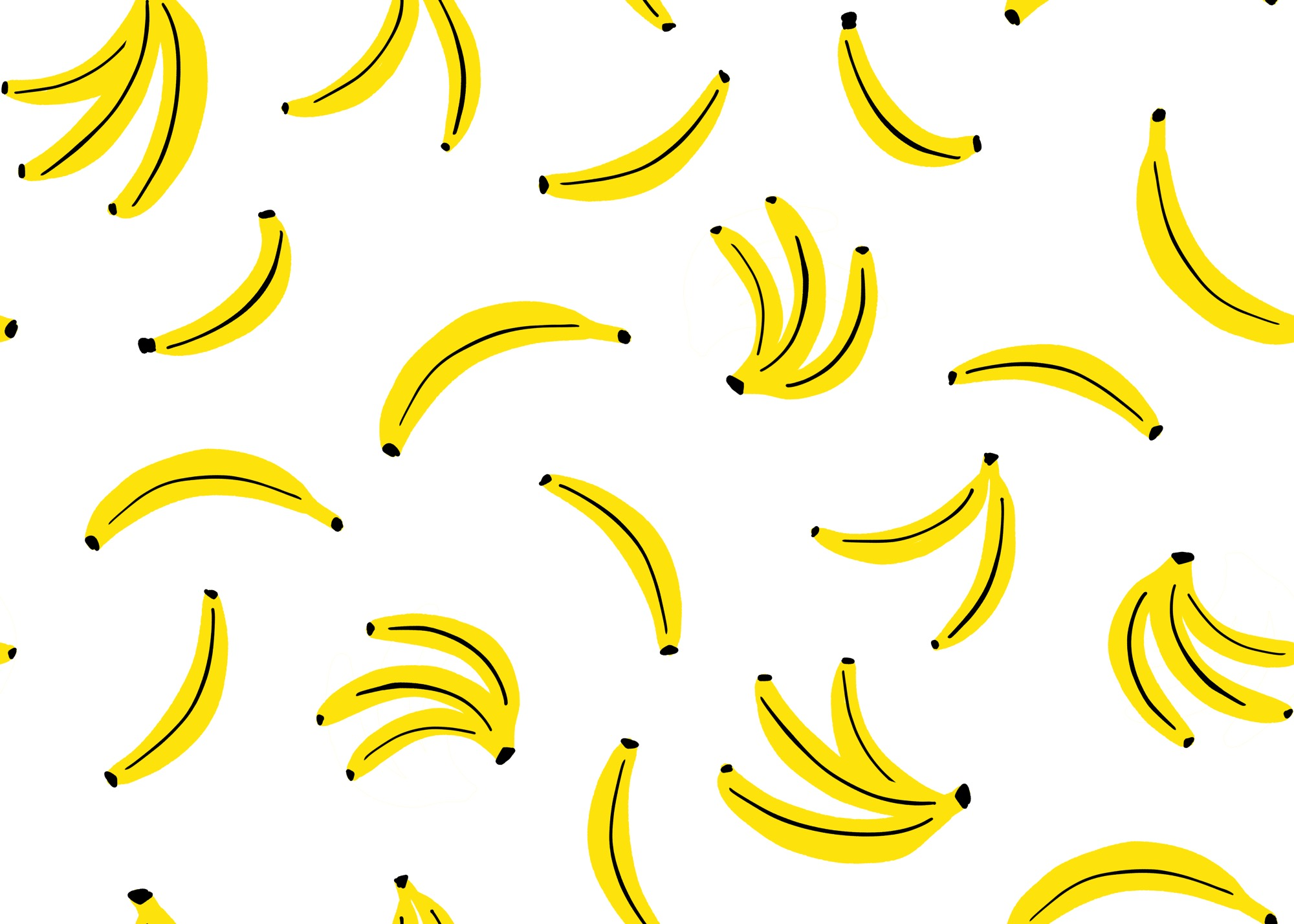 Banana Pattern 2 by Lisa Bardot