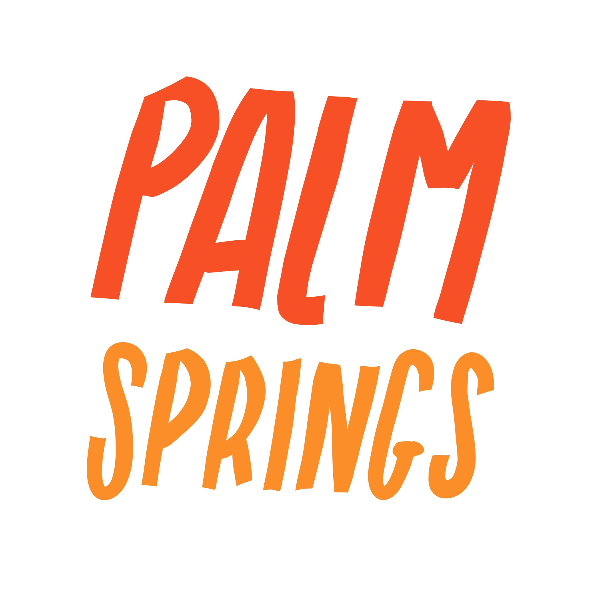 Palm Springs Lettering by Lisa Bardot