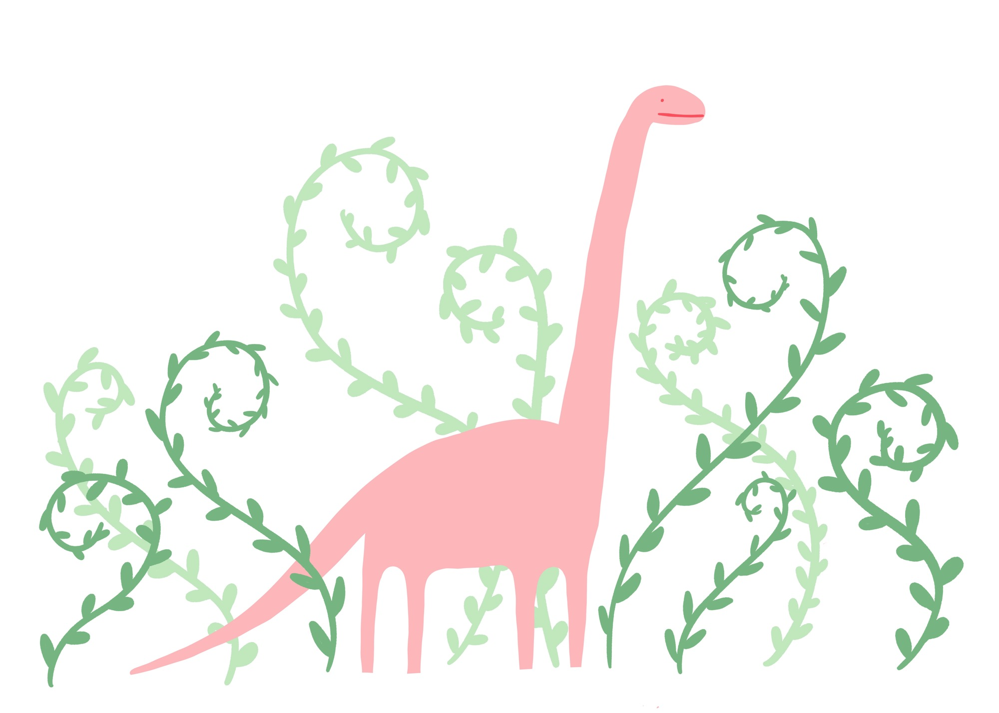 Pink Dino by Lisa Bardot